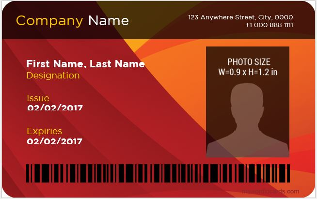 Corporate professional id card format
