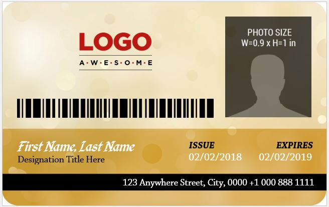 Corporate Employee id card template