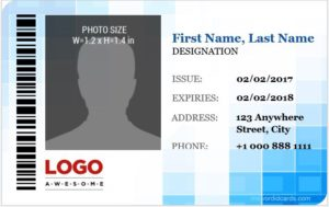 Corporate Professional ID Card Template