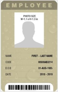 Professional Design Vertical id Card Template MS Word