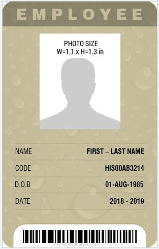 professional design vertical id card template ms word - Id In Design