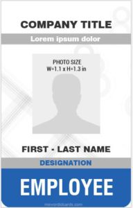 Pvc Card Templates Print In Ms Word Microsoft Word Id Card Templates