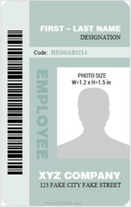 Vertical Design Employee ID Card Templates