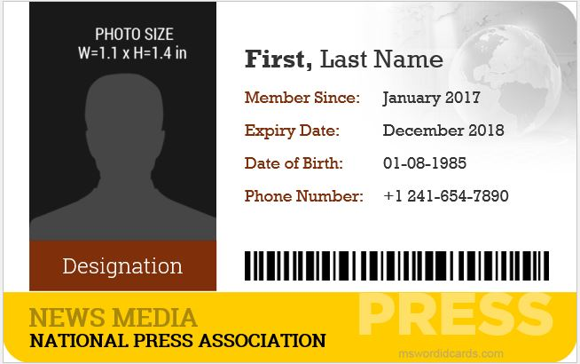 Media Id Card Templates Images Template Design Ideas