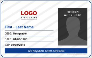 Office ID Card Template MS Word