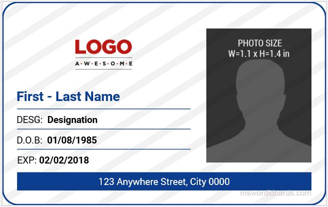 5 best office id card templates ms word