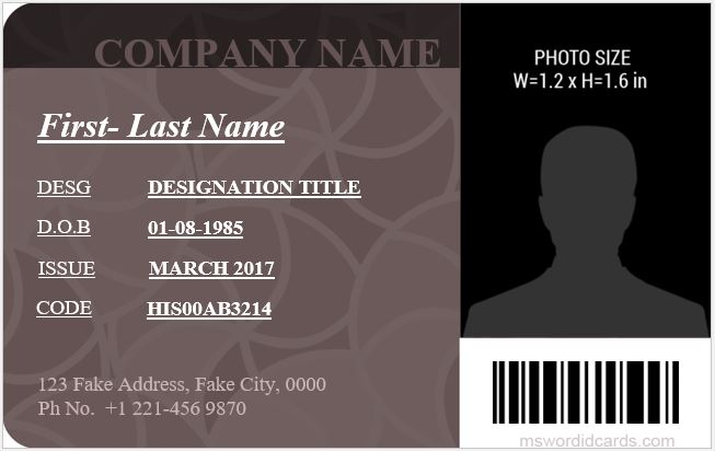 how to make an id card in microsoft word