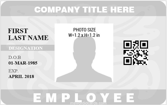Office ID Card Sample Template