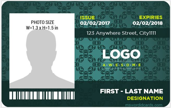 8 best company id card templates ms word