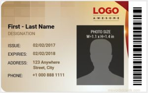 Company ID Card Sample