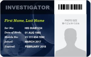 Investigator ID Badge Template