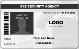 Security Guard ID Card Template