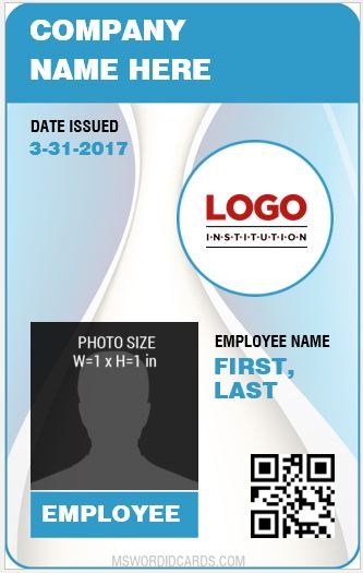Staff ID Card Template