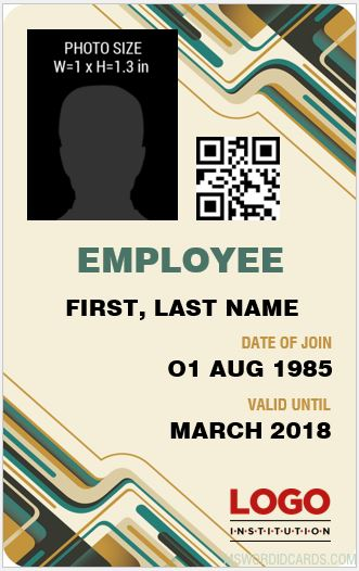 Female Staff ID Card Template