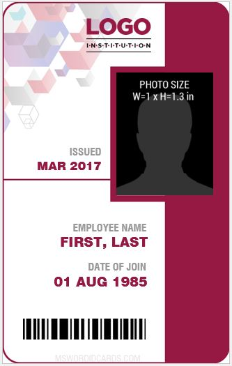 10 best staff id card templates ms word