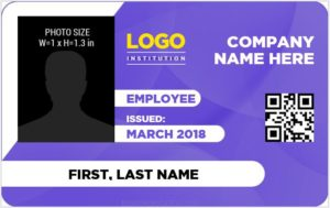 Staff ID Card Template Word