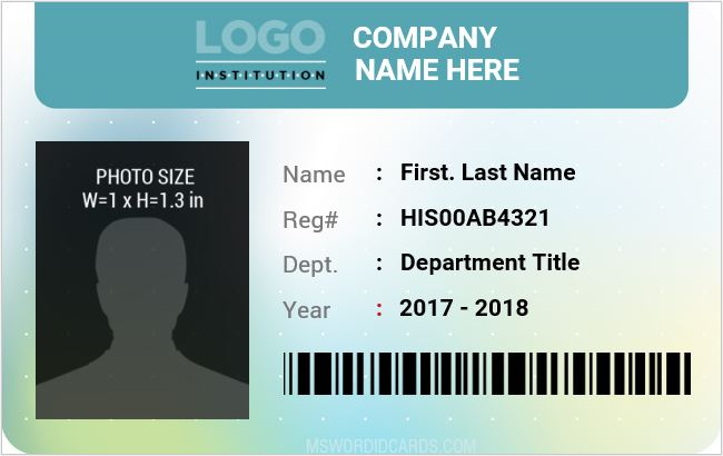 Company staff id card