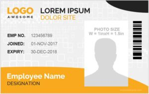 ID Card Template Word