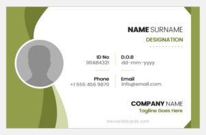 Employee ID Card Format