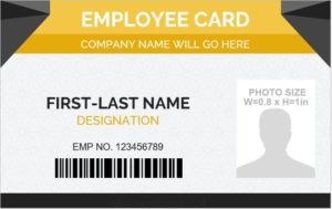 Employee id card format in word