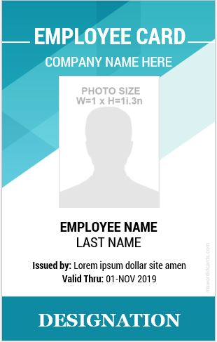 10 amazing employee vertical size id cards for free microsoft word