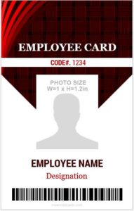 Vertical Size ID Card Template