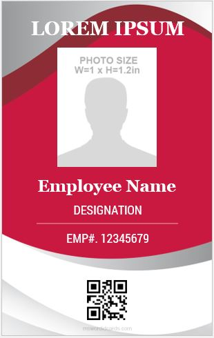 Vertical Size ID Card
