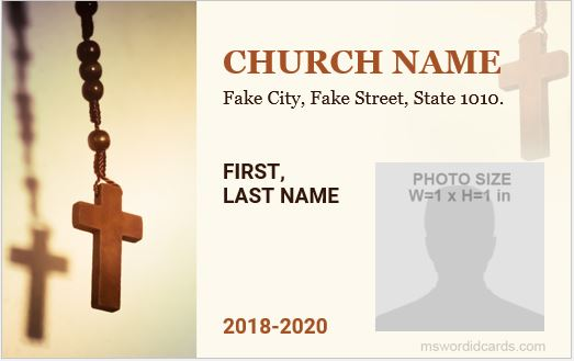 Church ID Card Template