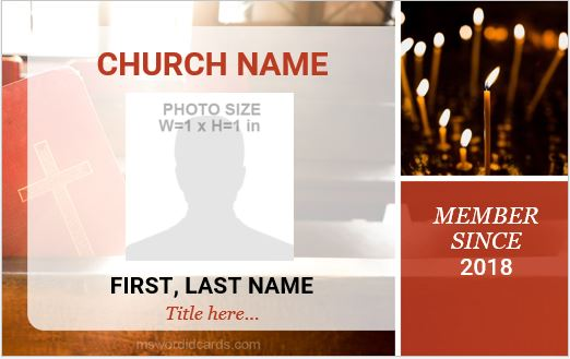 Church ID Card Sample