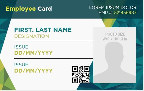 Office Employee Identity Card