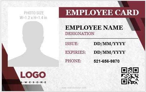 Employee Identity Badge Template