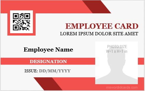 Id badge templates