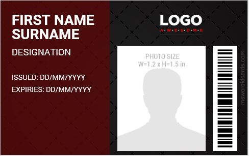 ID Card Template 2018