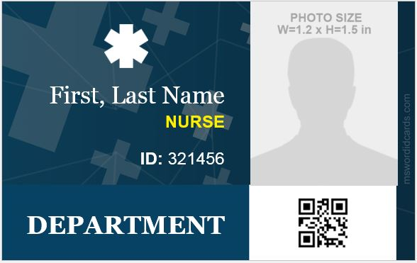 Nursing ID Card Template