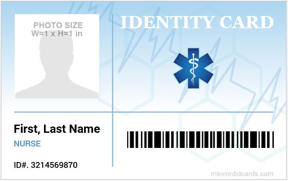 Nursing ID Card