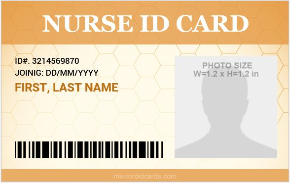 Nursing id badges