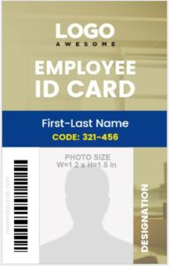 Job ID Card Vertical