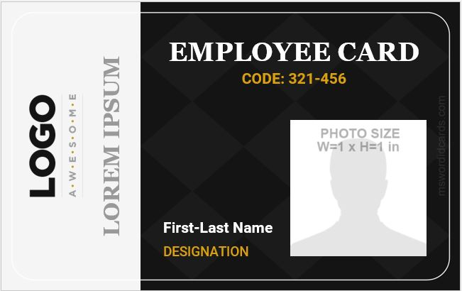 Online ID Card Template
