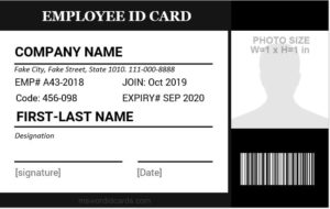 Job ID Card