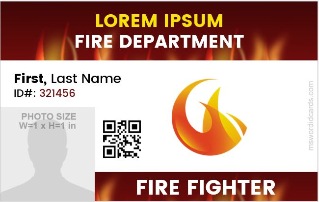 Fire Department Employee ID Card