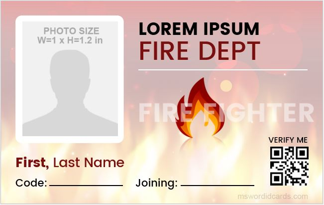 Firefighter id card