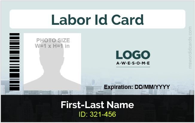 Word Labor ID Card