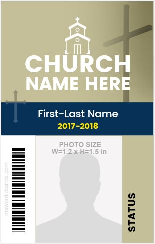 Church Employee ID Badge