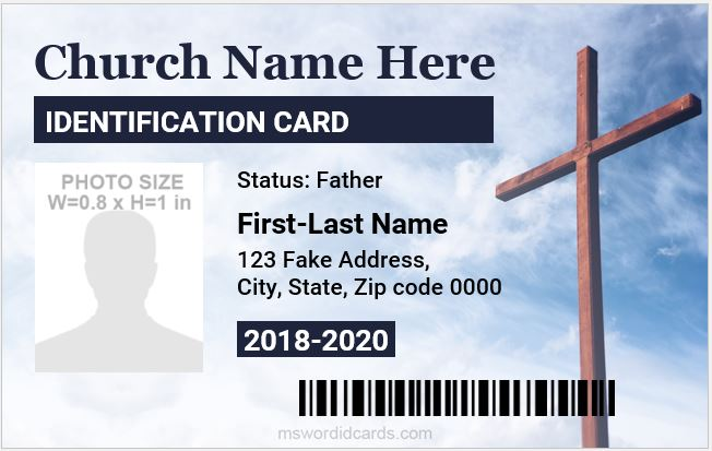 church photo id badges 2020