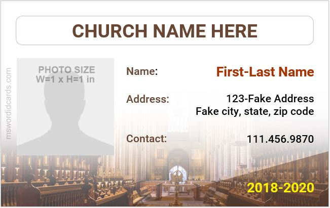 Church ID Badge Sample