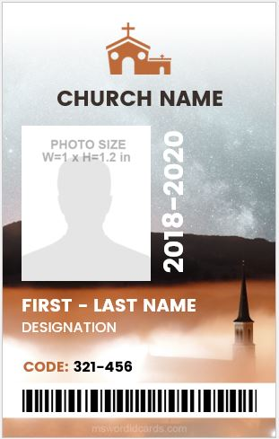 Church Photo ID Badge