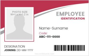 Employee Photo ID Badge