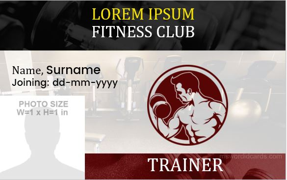 Gym member's id badges