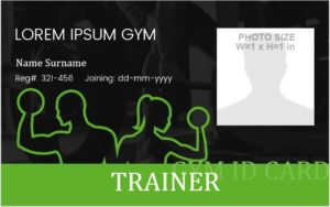 Gym Membership ID Badge Template