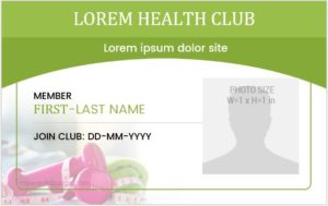 Health Club ID Badge Template